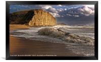 West Bay Storm And Waves, Framed Print