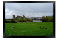 Caerphilly Castle , Framed Print