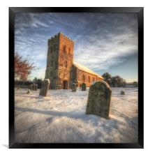 Silence in the Snow, Framed Print