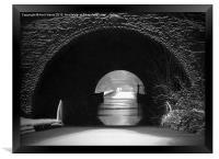 Newbold Tunnel Black and White, Framed Print