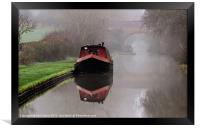 Mystical Barge on the Canal, Framed Print