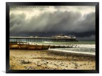 Cromer Pier Storm, Framed Print