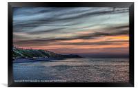 Sunset on Cromer Cliffs, Framed Print