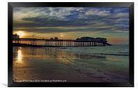 Cromer Pier at sunset, Framed Print