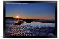 Sunset at Walcott Beach, Framed Print