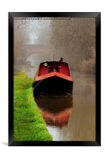 Narrowboat on the Canal, Framed Print