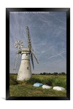 Thurne Dyke Mill and Boats, Framed Print