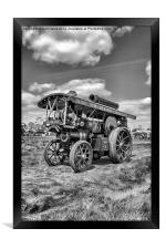 """Showmans Engine """"Lord Nelson"""" Black and White, Framed Print"""