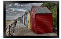 Colourful Beach Huts, Framed Print