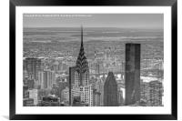 Chrysler building, New York City , Framed Mounted Print