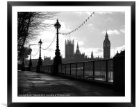 Houses of Parliament, London, Framed Mounted Print