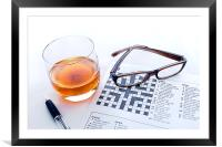 Whiskey and Glasses, Framed Mounted Print