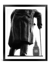 Churchill & Big Ben, Framed Mounted Print
