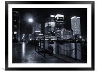 Canary Wharf Black & White, Framed Mounted Print