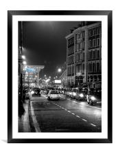 St Pancras station, London, Framed Mounted Print