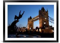 Tower Bridge, London. Sunset, Framed Mounted Print
