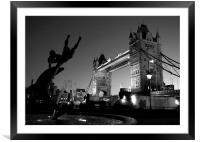 Tower Bridge Black & White (3), Framed Mounted Print