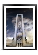 St Pauls Cathedral Digital, Framed Mounted Print