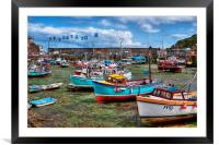 Mevagissey, inner harbour, Framed Mounted Print