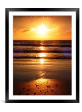 Dawn over Bonchurch., Framed Mounted Print