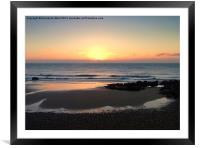 Pastel Sunrise, Framed Mounted Print