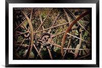 Rusty Cart Rims., Framed Mounted Print