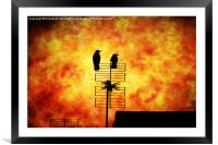 Two Crow Fire, Framed Mounted Print