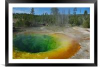 Morning Glory Pool, Yellowstone, Framed Mounted Print