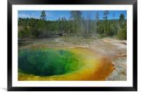 Morning Glory Pool, Yellowstone, Framed Mounted Print
