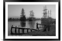Pirates in port (2), Framed Mounted Print