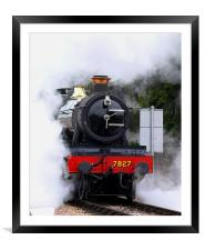 Out of the Steam, Framed Mounted Print