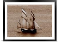Cornwall Schooner, Framed Mounted Print