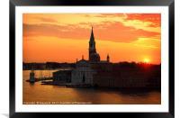 Venice Sunrise, Framed Mounted Print