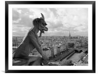 Paris - Notre Dame Gargoyle, Framed Mounted Print