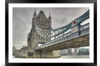 Tower Bridge, London, Framed Mounted Print