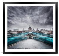 Millenium Bridge, London, Framed Mounted Print