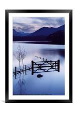 Evening at Derwent Water, Framed Mounted Print