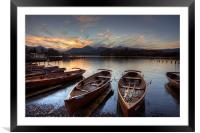 Derwent Water Rowing Boats, Framed Mounted Print