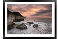 Thornwick Bay Sunrise 2, Framed Mounted Print