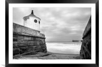 Whitby Sea Defences, North Yorkshire, Framed Mounted Print