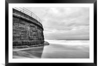 Whitby, Sea Wall, Framed Mounted Print