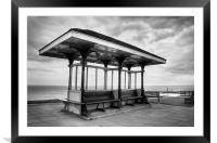 Whitby Shelter, North Yorkshire, Framed Mounted Print