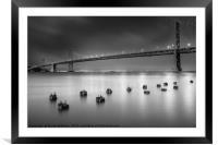 The Bay Bridge, San Francisco, Framed Mounted Print