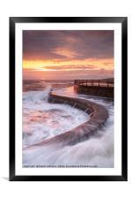 Scarborough Seas, Framed Mounted Print
