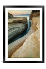 Canal D'Amour beach near Sidari, Corfu, Greece, Framed Mounted Print