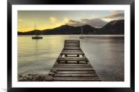 Lake Maggiore jetty, Italy, Framed Mounted Print