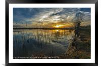 Just a Sunset, Framed Mounted Print
