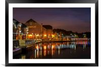 Waterfront Reflections, Framed Mounted Print