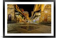 Ponte Vecchio Bridge, Framed Mounted Print