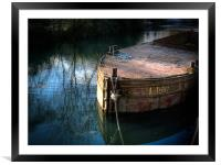 Rusty Barge, Framed Mounted Print
